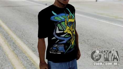 T-shirt from Jeff Hardy v1 para GTA San Andreas segunda tela