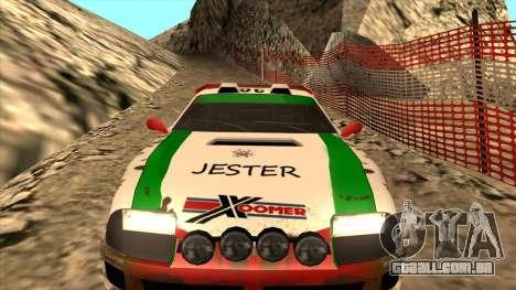 Rally Jester para GTA San Andreas vista traseira