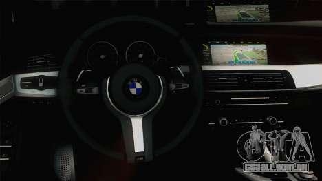 BMW M5 F10 Grey Demon para GTA San Andreas vista interior