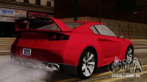 GTA 5 Elegy RH8 para GTA San Andreas traseira esquerda vista