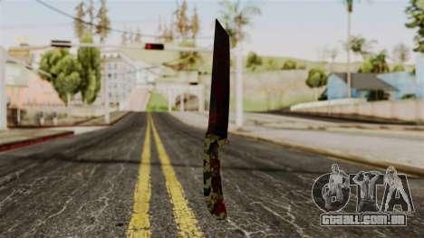 Novo sangrenta faca de camo para GTA San Andreas segunda tela