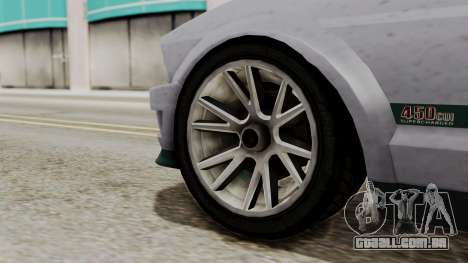 GTA 5 Vapid Dominator SA Style para GTA San Andreas traseira esquerda vista