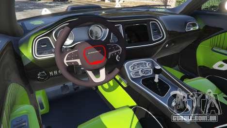 GTA 5 Dodge Challenger 2015 Shaker Furious 7 traseira direita vista lateral