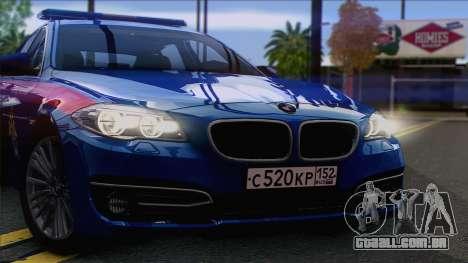 BMW 520 Comitê de Investigação para GTA San Andreas traseira esquerda vista
