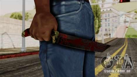 Novo sangrenta faca de camo para GTA San Andreas terceira tela