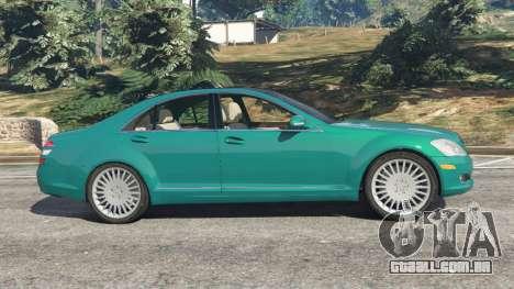 GTA 5 Mercedes-Benz S550 W221 v0.4.2 [Alpha] vista lateral esquerda