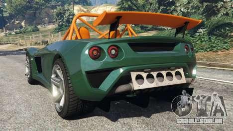 GTA 5 Lotus 2-Eleven 2009 v0.5 traseira vista lateral esquerda
