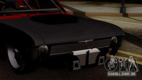 Chevrolet Nova SS para GTA San Andreas vista interior