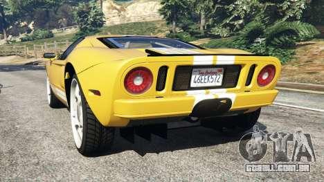 GTA 5 Ford GT 2005 v1.1 traseira vista lateral esquerda