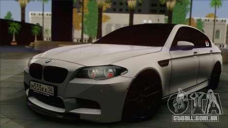 BMW M5 F10 Grey Demon para GTA San Andreas