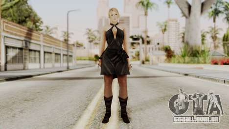 DOA 5 Sarah BlackDress para GTA San Andreas segunda tela