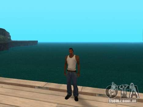 Verde escuro realista de água para GTA San Andreas terceira tela