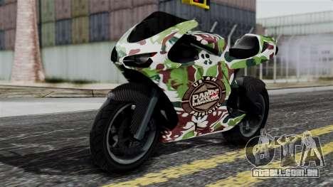 Bati Wayang Camo Motorcycle para GTA San Andreas