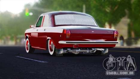 Volga GAZ 2401 tuning para GTA 4 traseira esquerda vista