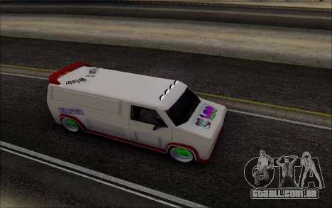 Burrito So Low para GTA San Andreas traseira esquerda vista