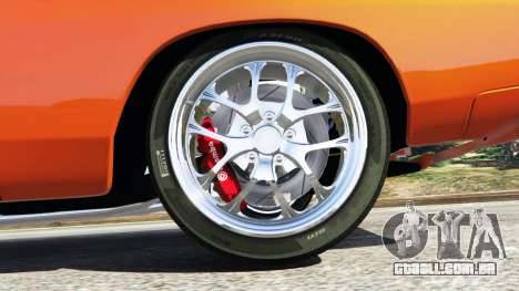 GTA 5 Dodge Charger 1970 Fast & Furious 7 traseira direita vista lateral