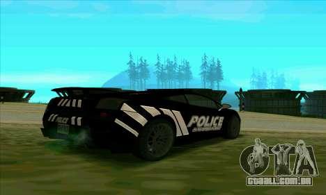 Federal Police Lamborghini Gallardo para GTA San Andreas traseira esquerda vista