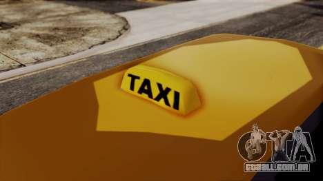 Minivan Cabbie SA Style para GTA San Andreas traseira esquerda vista