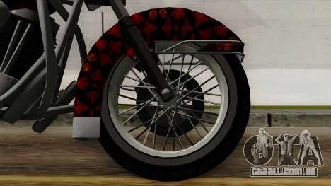Classic Batik Motorcycle para GTA San Andreas traseira esquerda vista