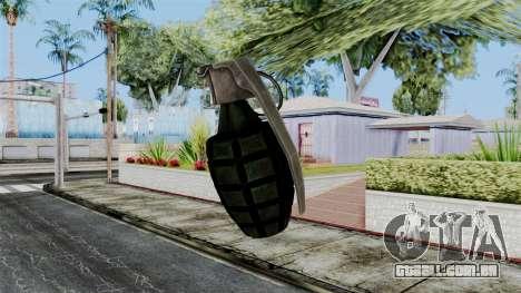 US Grenade from Battlefield 1942 para GTA San Andreas terceira tela