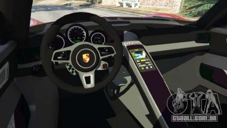 Porsche 918 Spyder 2013 para GTA 5