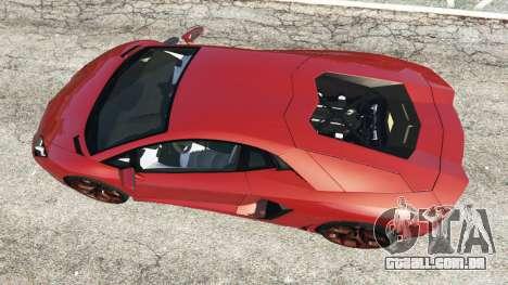 GTA 5 Lamborghini Aventador LP700-4 2012 voltar vista
