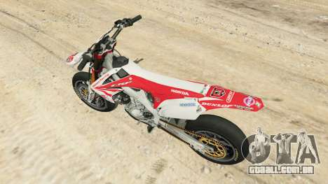 GTA 5 Honda CRF450 Turbo Motard voltar vista