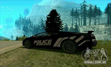 Federal Police Lamborghini Gallardo para GTA San Andreas esquerda vista