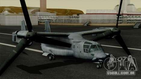 MV-22 Osprey para GTA San Andreas