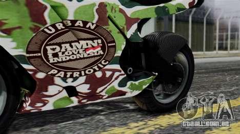 Bati Wayang Camo Motorcycle para GTA San Andreas vista interior