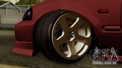 Honda Civic Hatchback B. O. Construção para GTA San Andreas traseira esquerda vista