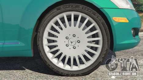 GTA 5 Mercedes-Benz S550 W221 v0.4.2 [Alpha] traseira direita vista lateral