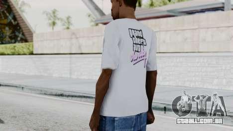 GTA Vice City T-shirt White para GTA San Andreas terceira tela