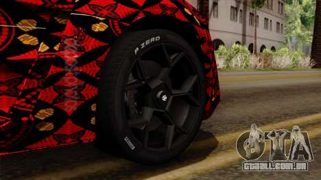 Lykan Hypersport Batik para GTA San Andreas traseira esquerda vista