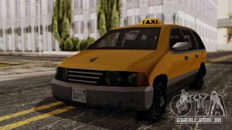 Minivan Cabbie SA Style para GTA San Andreas vista direita