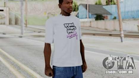 GTA Vice City T-shirt White para GTA San Andreas segunda tela