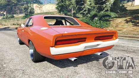 GTA 5 Dodge Charger 1970 Fast & Furious 7 traseira vista lateral esquerda