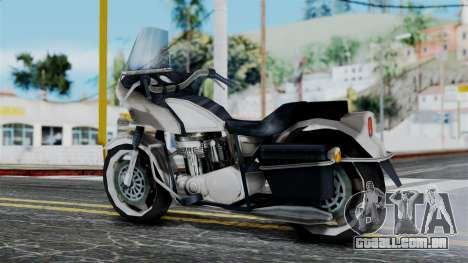 Bike Cop from Bully para GTA San Andreas esquerda vista