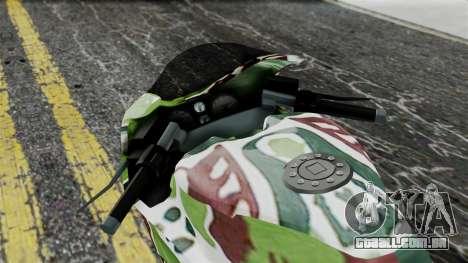 Bati Wayang Camo Motorcycle para GTA San Andreas vista traseira