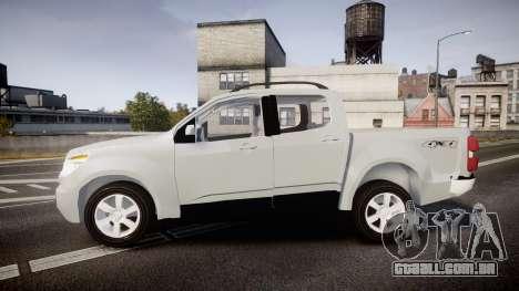 Chevrolet S10 LTZ 2014 v0.1 para GTA 4 esquerda vista