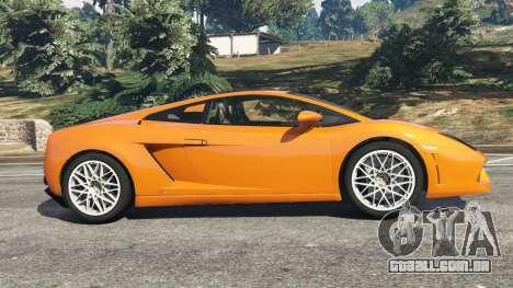 GTA 5 Lamborghini Gallardo LP560-4 vista lateral esquerda