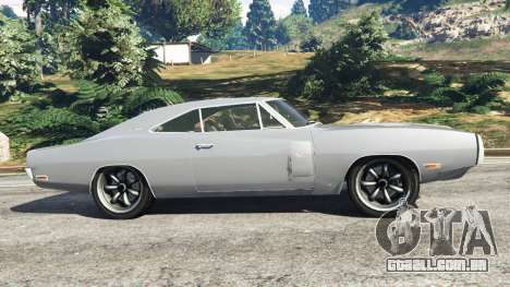 GTA 5 Dodge Charger RT SE 440 Magnum 1970 vista lateral esquerda