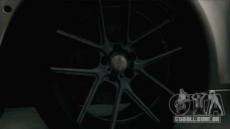 BMW M5 F10 Grey Demon para GTA San Andreas vista traseira