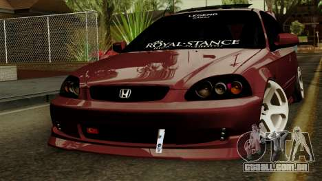 Honda Civic Hatchback B. O. Construção para GTA San Andreas