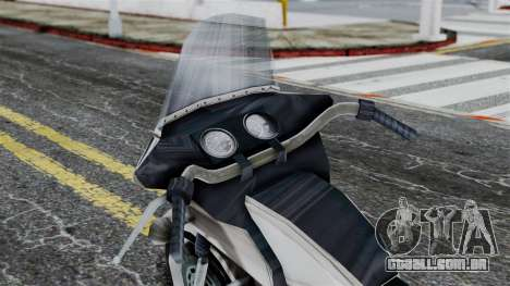 Bike Cop from Bully para GTA San Andreas vista direita