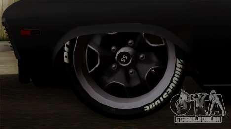 Chevrolet Nova SS para GTA San Andreas traseira esquerda vista