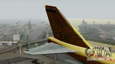 Boeing 747-400 World Peace para GTA San Andreas traseira esquerda vista