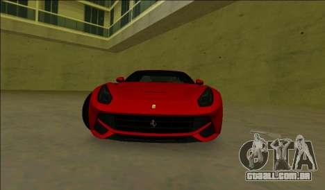A Ferrari F12 Berlinetta para GTA Vice City deixou vista