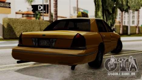 Ford Crown Victoria LP v2 Taxi para GTA San Andreas traseira esquerda vista