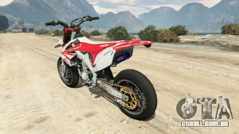 GTA 5 Honda CRF450 Turbo Motard traseira vista lateral esquerda